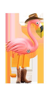 danny the flamingo